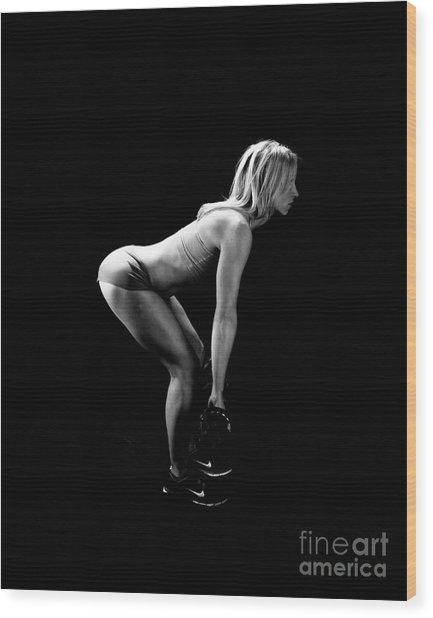 Fitness - Squats Wood Print