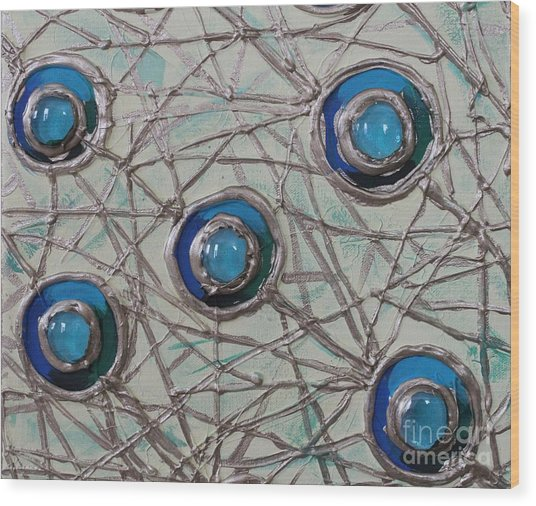 Five Circles Wood Print