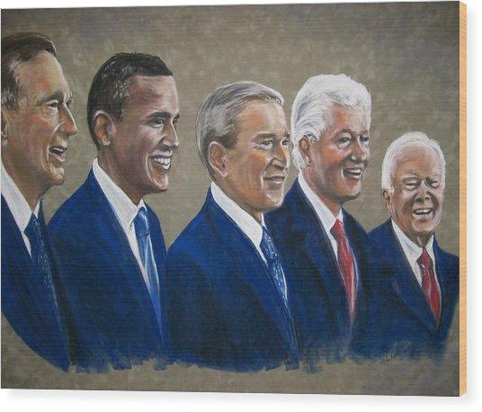 Five Living Presidents 2009 Wood Print