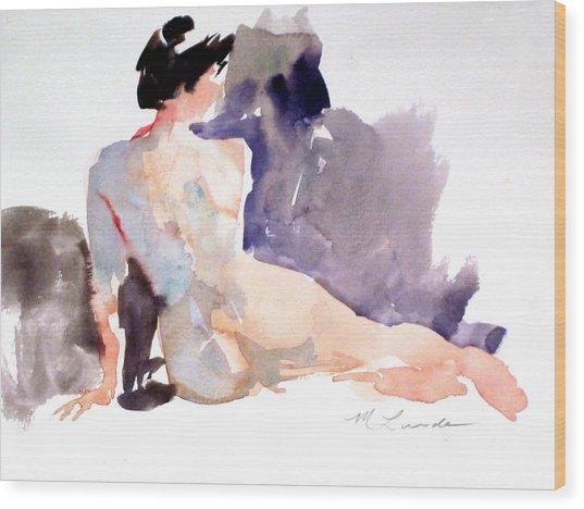 Five Minute Nude Wood Print