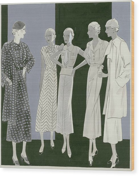 Five Women Wood Print by William Bolin