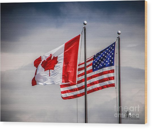 Flag Duo Wood Print