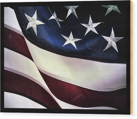 Wood Print featuring the photograph Flag Spotting At The Va by Al Harden