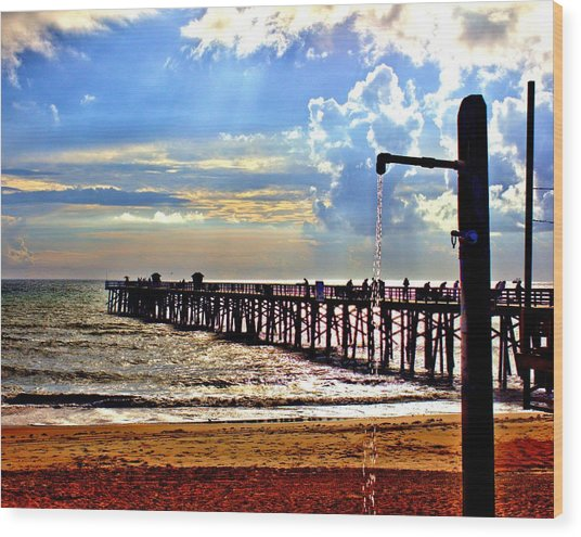 Flagler Pier Heaven Wood Print
