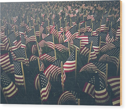 Flags Wood Print by Fran Polito