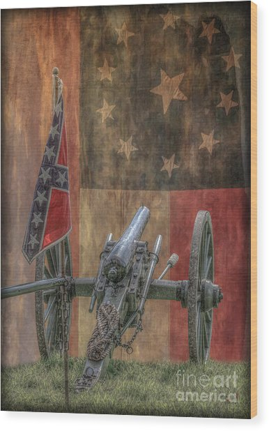 Flags Of The Confederacy Wood Print