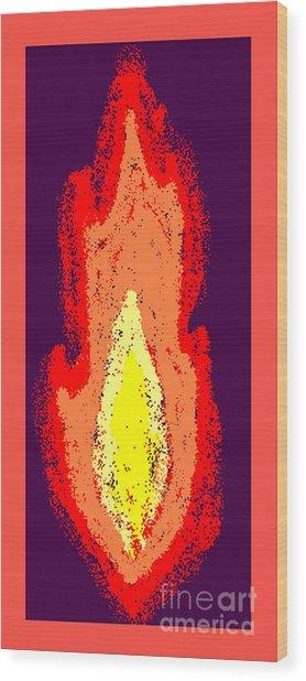 Flame Wood Print by Meenal C