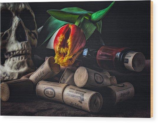 Flame Of Desire Wood Print