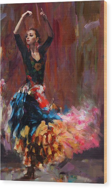 Flamenco 50 Wood Print