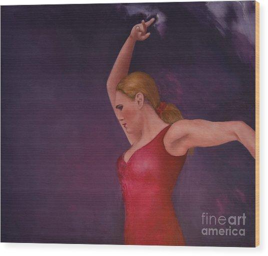 Flamenco 8 Wood Print by Jos Van de Venne