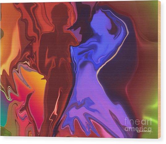 Flamenco Wood Print by Christian Simonian