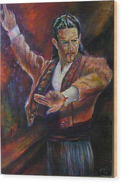 Flamenco Dancer Xx Wood Print