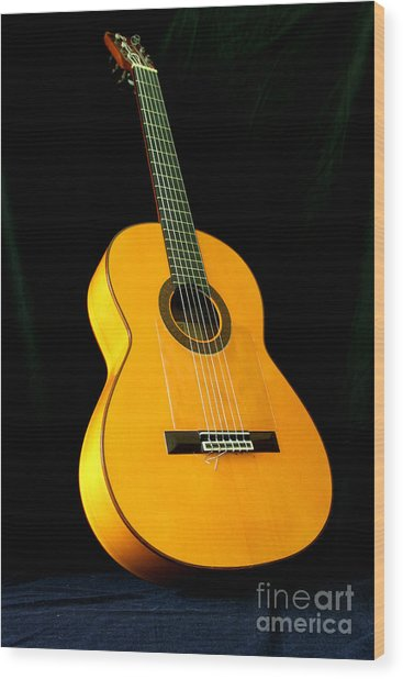 Flamenco Guitar Wood Print by Russell Christie