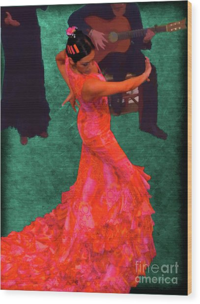 Flamenco Wood Print