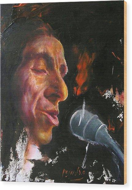 Flamenco Singer 1 Wood Print