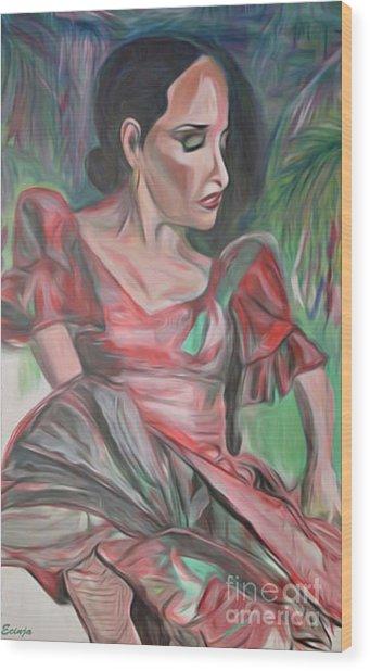 Flamenco Solo Wood Print