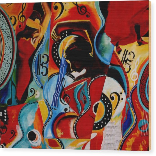 Flamenco Wood Print by Vel Verrept