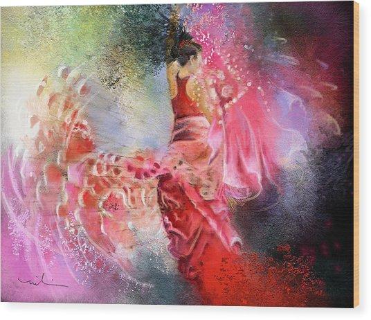 Flamencoscape 13 Wood Print