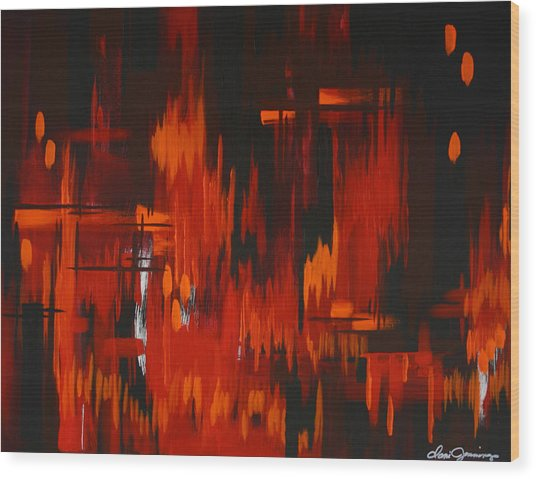 Flames Of Passion Wood Print