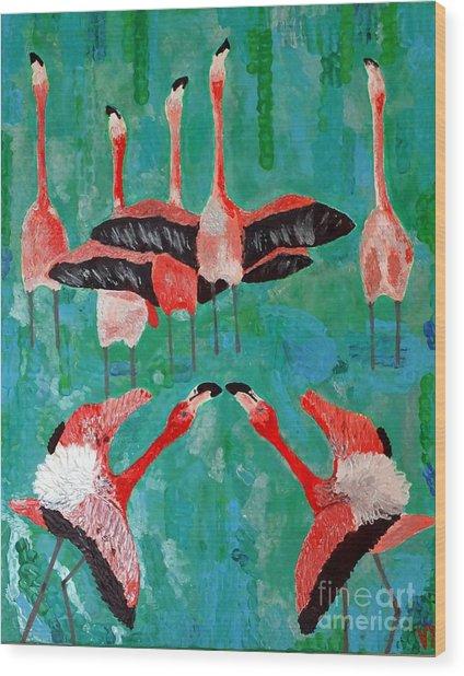 Flamingo 3 Wood Print
