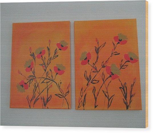 Flanders Poppies Wood Print
