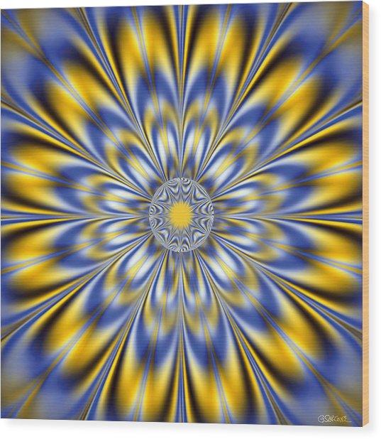 Flashing Star Wood Print