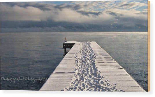 Flathead Lake Wood Print