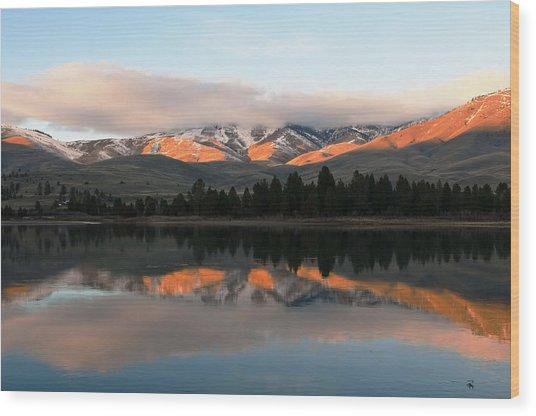 Flathead River Wood Print by Randolph Fritz
