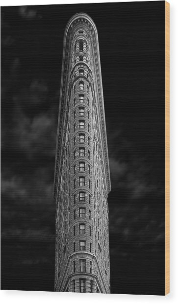 Flatiron Wood Print by Jan Rauwerdink