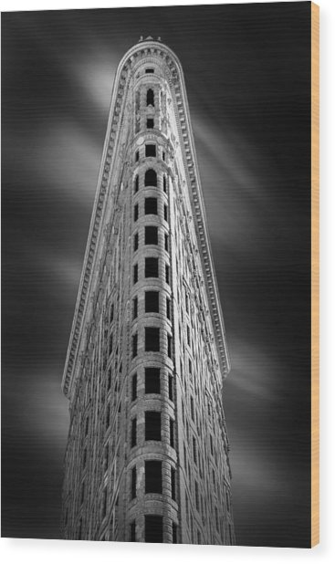 Flatiron Nights Wood Print