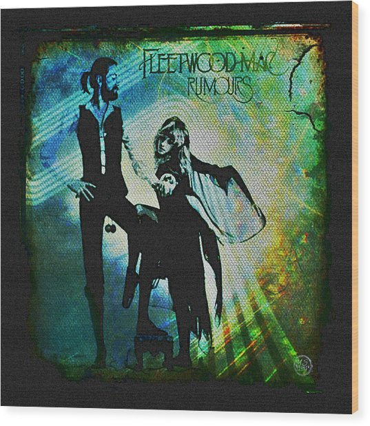 Fleetwood Mac - Cover Art Design Wood Print