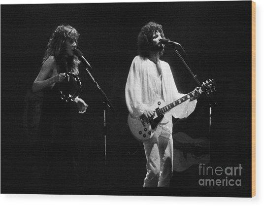 Fleetwood Mac In Amsterdam 1977 Wood Print