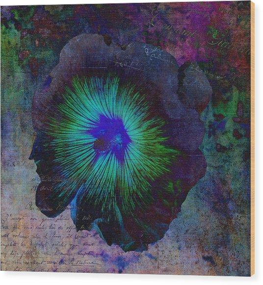 Fleur De Bleu De Cru Wood Print