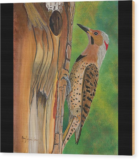 Flicker Wood Print by Amy Reisland-Speer