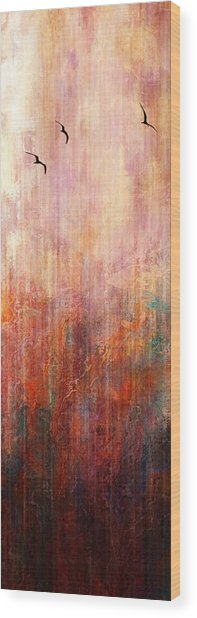 Flight Home - Abstract Art Wood Print