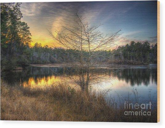 Flint Creek Sundown Wood Print