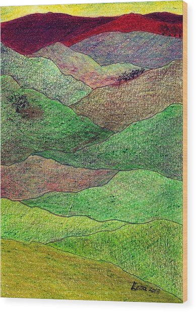 Flint Hills Fall Wood Print