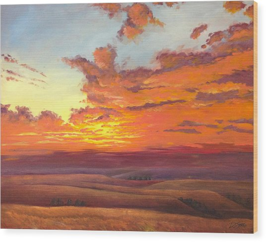 Flint Hills Magic Wood Print