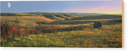 Flint Hills Shadow Dance Wood Print