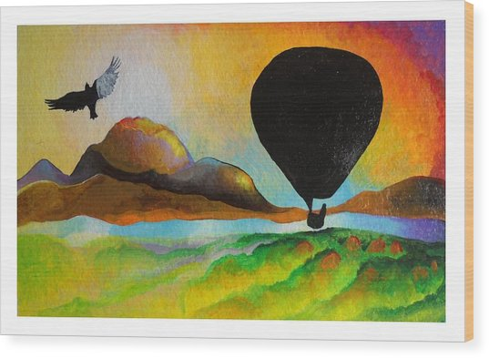 Floating Down River Wood Print