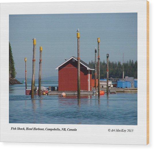Floating Fish Shack Bay Of Fundy Nb Wood Print
