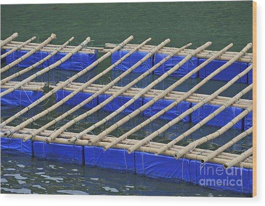 Floatting Nets Wood Print by Sami Sarkis