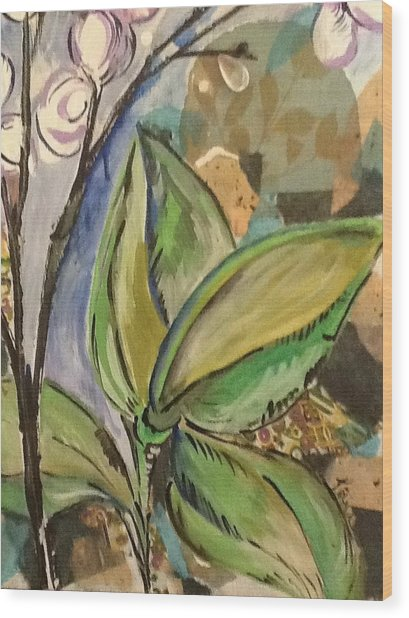 Flora1 Wood Print by Karen Carnow