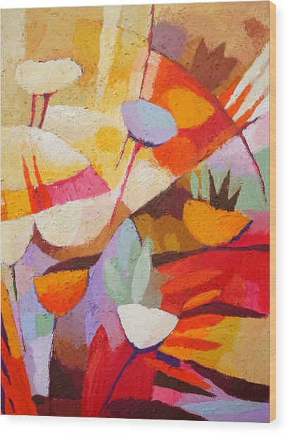 Floral Abstraction Wood Print by Lutz Baar
