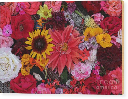 Floral Bounty 2 Wood Print