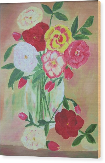 Floral Bouquet Wood Print by Edna Fenske