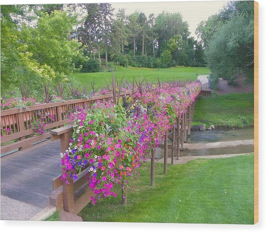 Floral Cartpath Wood Print