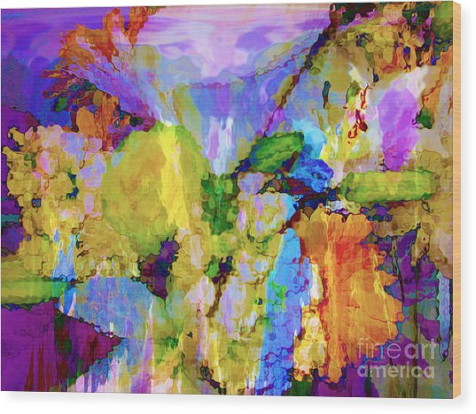 Floral Dreamscape Wood Print