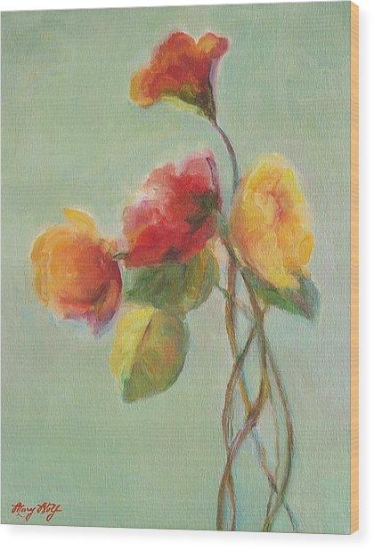 Floral Painting Wood Print