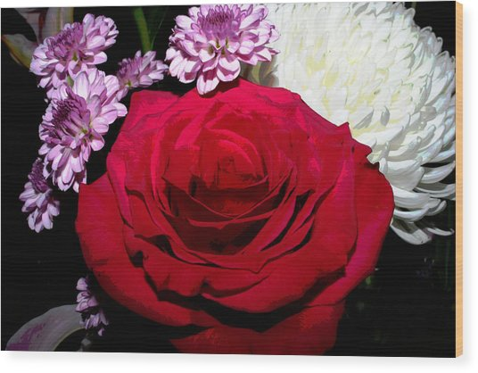 Floral Arrangement - Posterized Wood Print